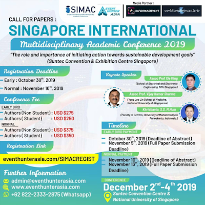 Singapore International Multidisciplinary Academic Conference (SIMAC) 2019