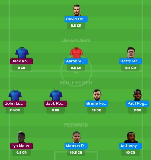 MUN vs SFU Dream11 Fantasy Football Team Premier league 2019/20