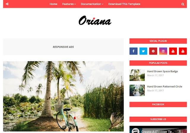 Oriana Blogger Template