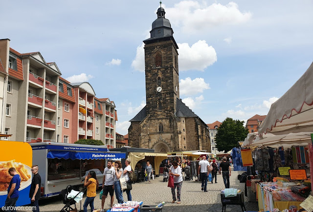 Iglesia y mercado en Gotha
