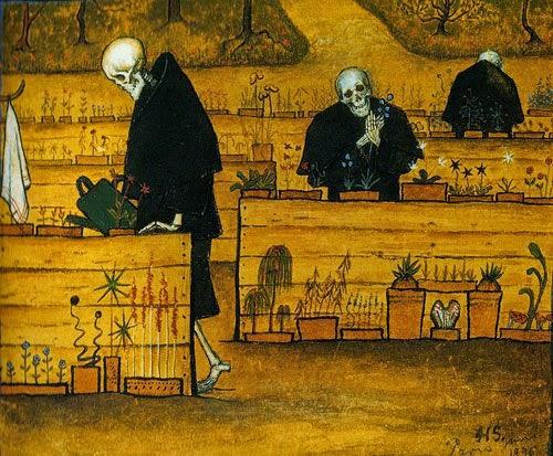 Jardim da Morte - Hugo Simberg e seus simbolismos ~ O artista ansiava por solidão e paz
