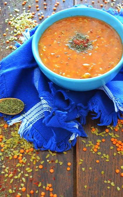Recipe:  Ezogelin Çorbası or Turkish Red Lentil Soup - shewandersshefinds.com  Ezogelin çorbası