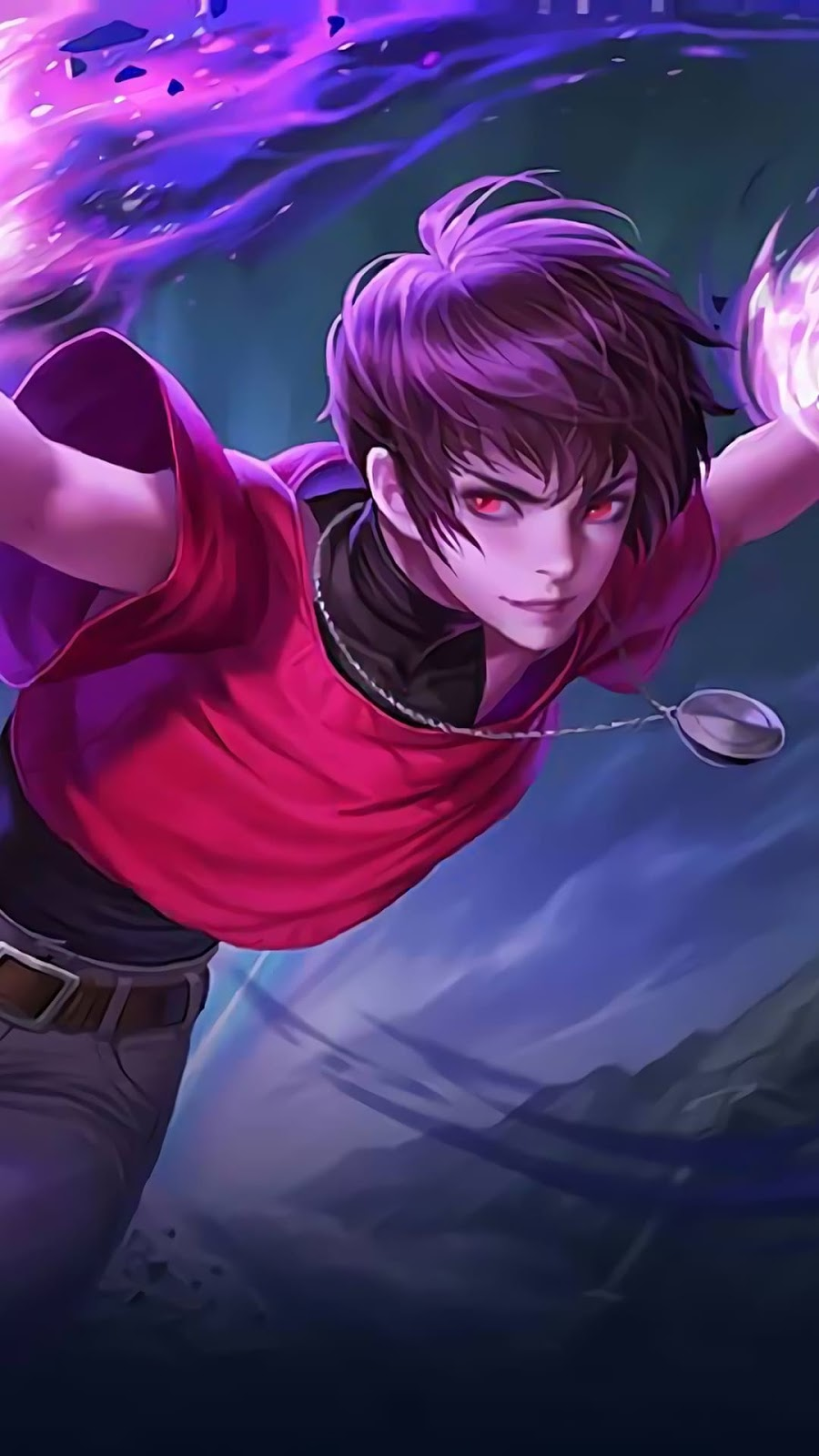 Wallpaper Dyrroth Orochi Chris KOF Skin Mobile Legends HD for Android and iOS