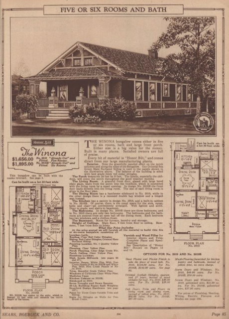 sears winona 1925 catalog early version 2 floor plans
