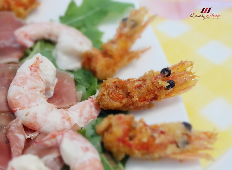 arugula salad parma ham crispy prawn heads recipes