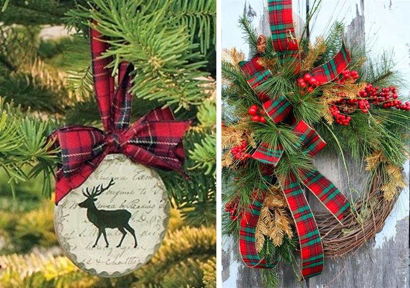 los tejidos de tartn son perfectos para decorar tu mesa en las navidea usando manteles de tartn y aderezando la decoracin con elementos