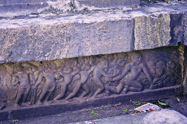 Ramayana Panels - building at Pamban Bridge with Vanara sena to Lanka