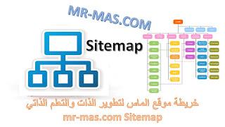 غلاف خريطة موقع الماس لتطوير الذات والتعلم الذاتي mr-mas.com Sitemap