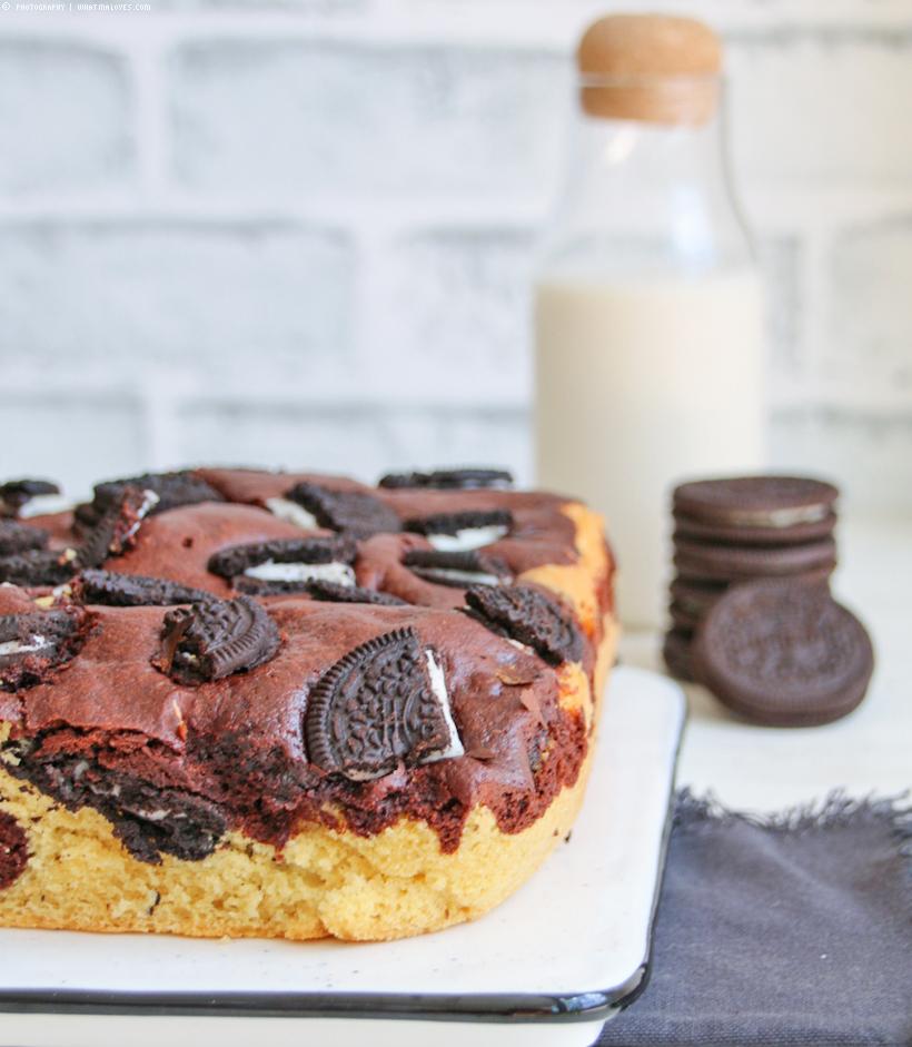 Oreo Black&White Bronwie Cake