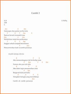 chord cantik 2 lagu dangdut a rafiq