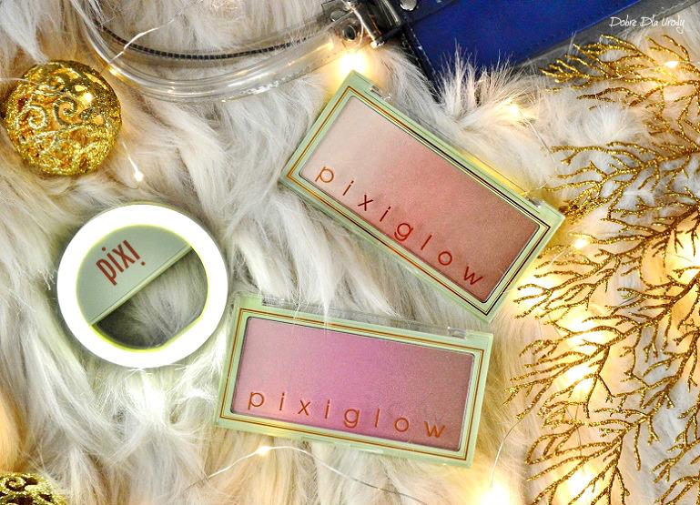 Pixi By Petra PixiGlow Cake - rozświetlacze Pink Champagne Glow oraz Gilded Bare Glow  review