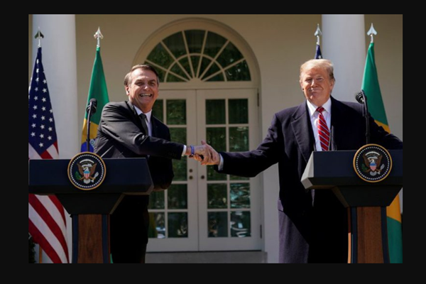 Donald Trump and the President of Brazil ratified their alliance to combat the regime of the President of Venezuela