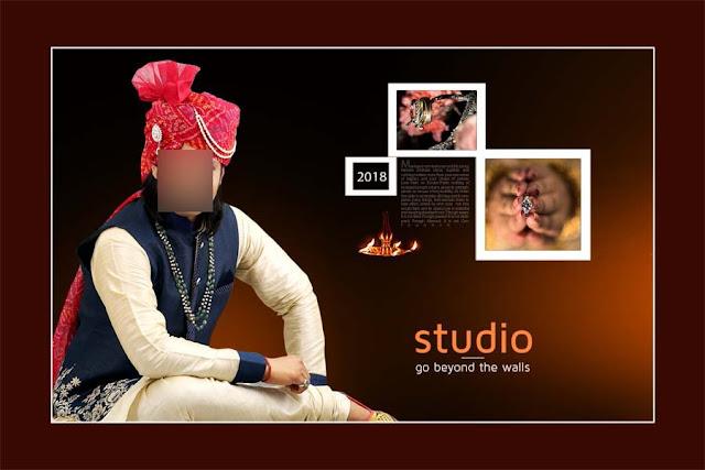 Wedding Album 12x18 PSD Cover Design
