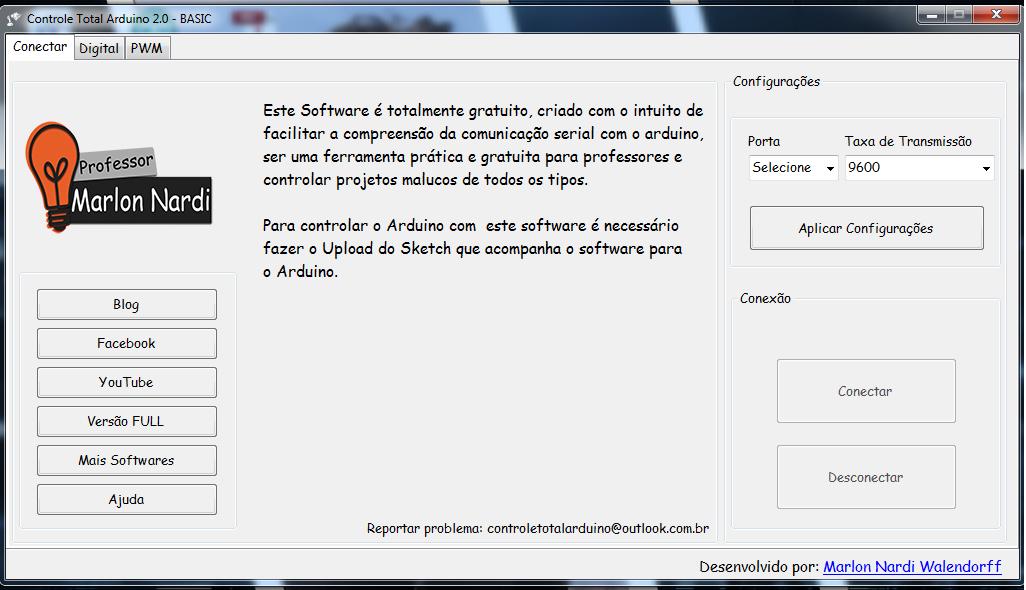 Programa para Controlar o Arduino - Controle Total Arduino 2.0 - BASIC