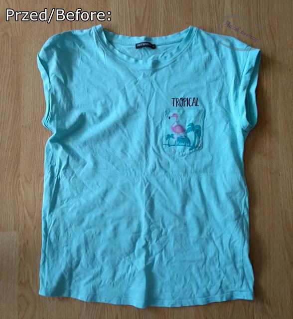 Crop top z t-shirtu DIY przeróbka bez szycia - Adzik tworzy