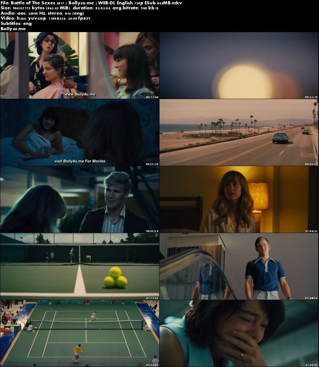 Battle of The Sexes 2017 WEB-DL 350MB English 480p ESub Download