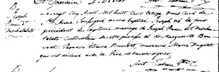 Joseph Deschatelets 1813 baptism record
