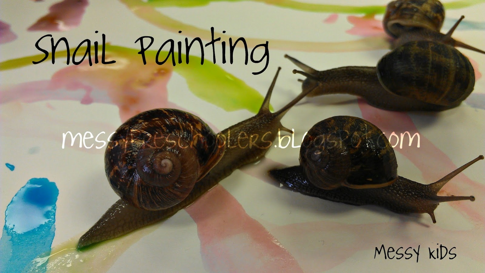 Messy Kids Snail Painting