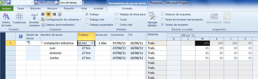FORO DE PROJECT project forum 项目论坛 Determinar las horas hombre