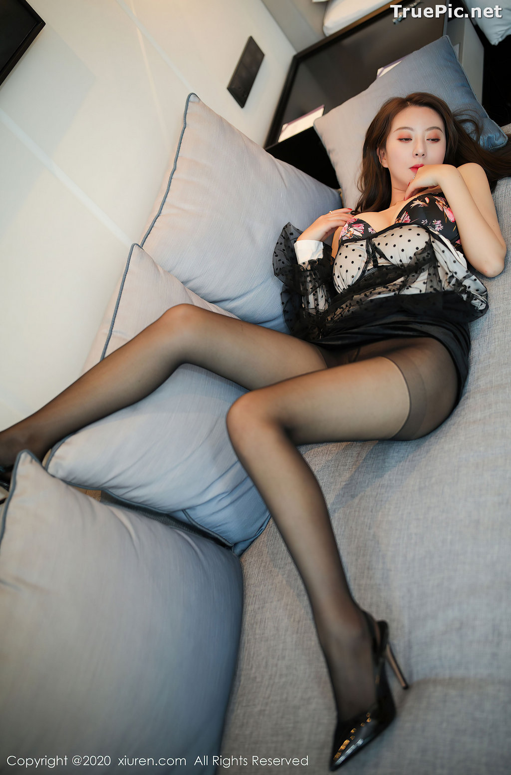 Image XIUREN No.2650 - Chinese Model - 李夫人 - Floral Lingerie - TruePic.net - Picture-4