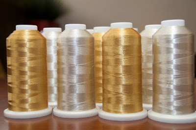 Golden and Silver color of metallic threads