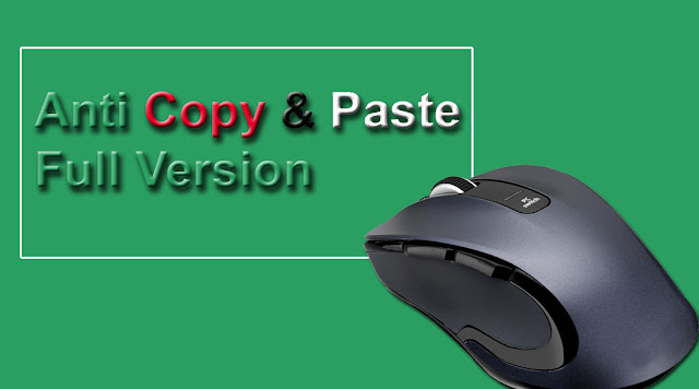 Setting Anti Copy Paste Full Version