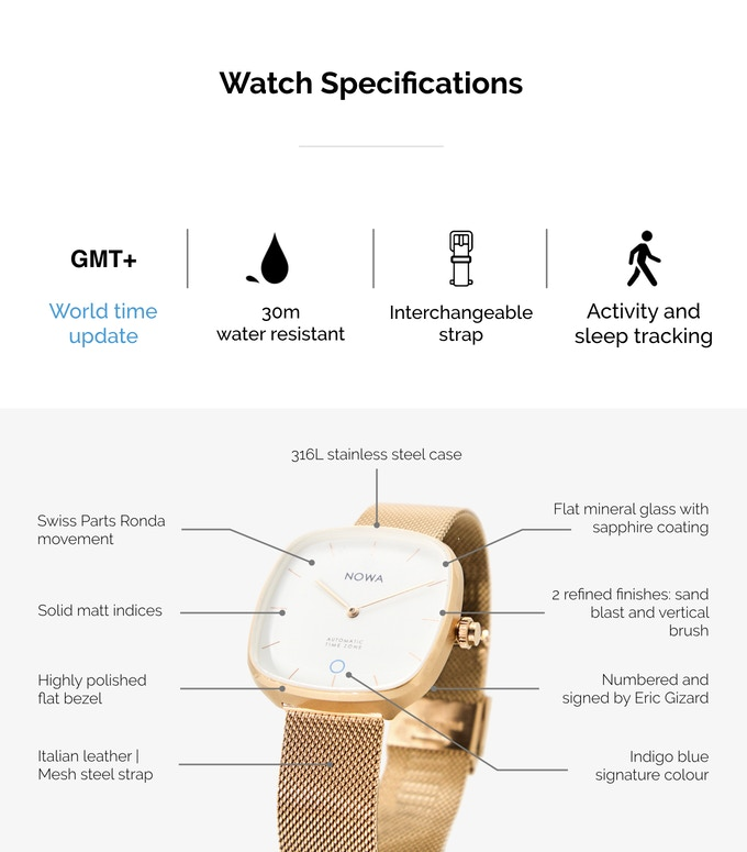 NOWA SUPERBE, A HYBRID SMARTWATCH FOR THE FUTURE