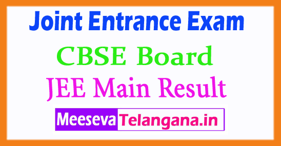 Joint Entrance Examination JEE Main Result 2018 Marks Rank All India IIT JEE Main Result 2018