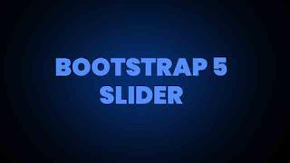 bootstrap 5 slider
