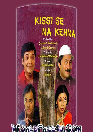 Poster Of Bollywood Movie Kissi Se Na Kehna (1983) 300MB Compressed Small Size Pc Movie Free Download worldfree4u.com