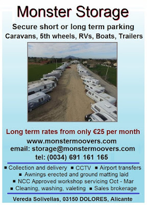 Caravan storage on Spain's sunny Costa Blanca