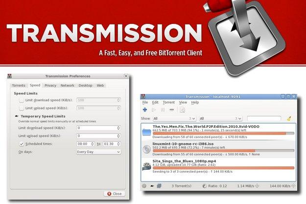 Transmission - Ίσως το πιο ελαφρύ δωρεάν πρόγραμμα για κατέβασμα torrent αρχείων