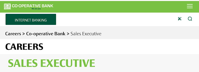 Sales  Executive job at Co-op bank