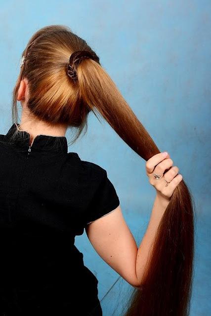 silky natural long hair, human hair extensions