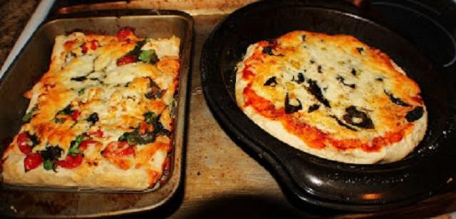 Artisan bread pizza