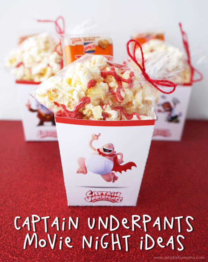 Captain Underpants Movie Night Ideas with Free Printables
