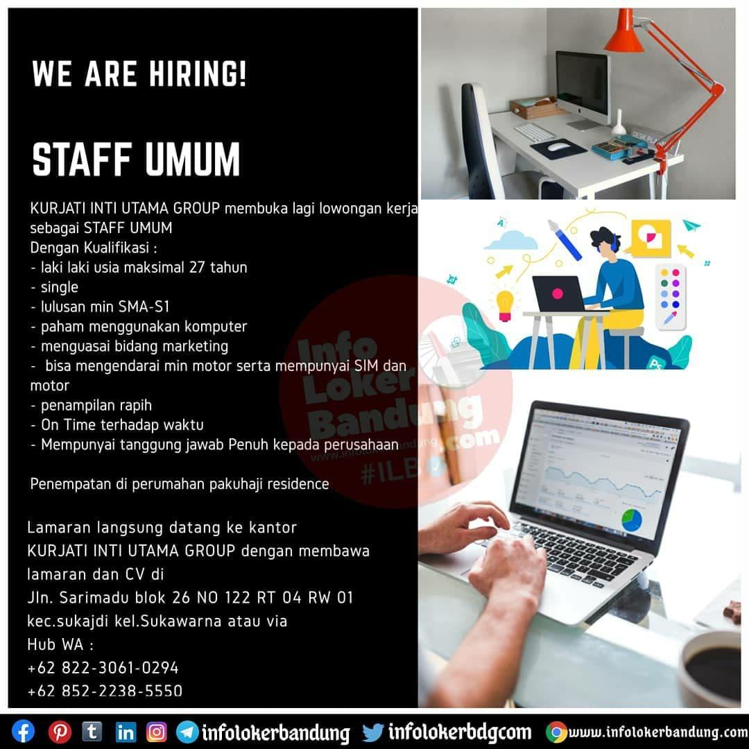 Lowongan Kerja Staff Umum Kurjati Inti Utama Group Bandung November 2020