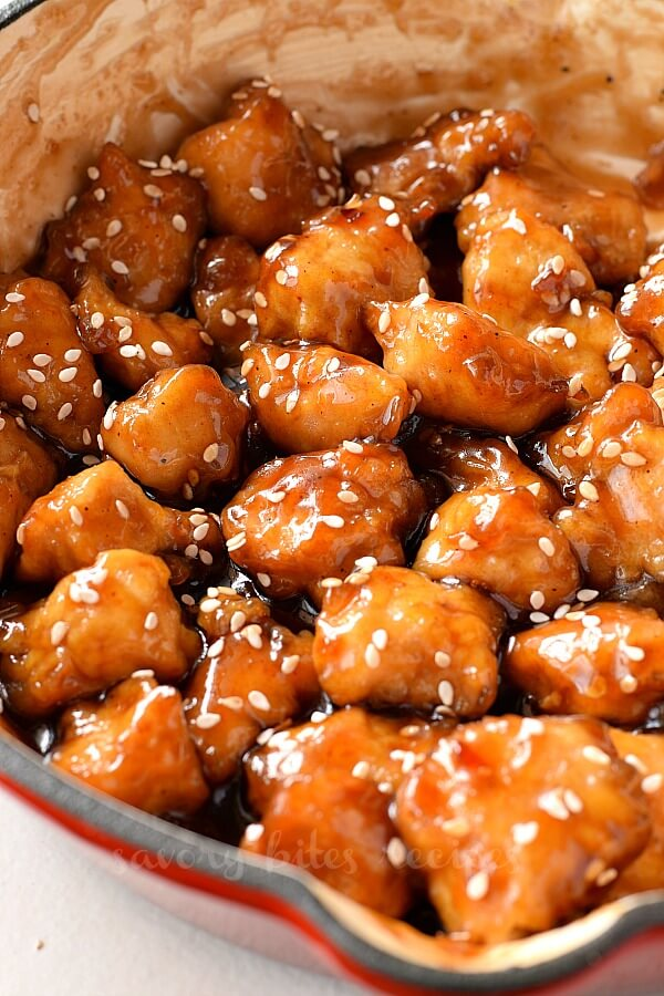 ultimate easy sesame chicken with video  savory bites