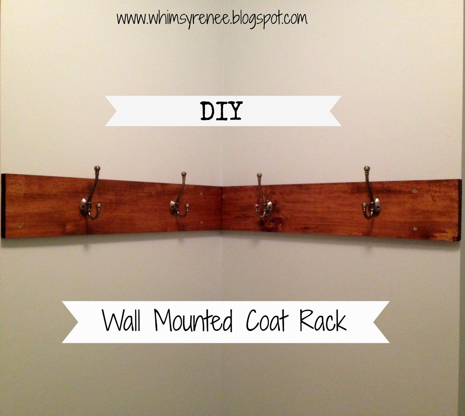 Whimsy Renee: DIY Wall-Mounted Coat Rack