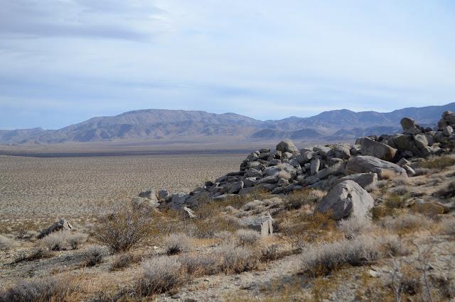 across the desert to a few more bumps