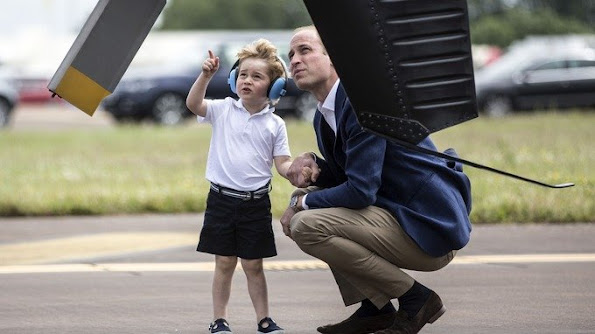 Prince George had his first official engagement in the UK on July 8 at RAF Fairford.
