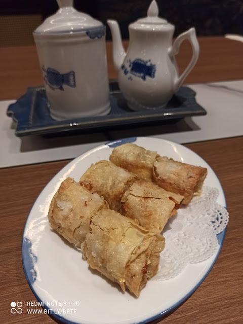 Dim Sum Menu - Crispy Bean Curd Skin Rolls With  Prawns And Cheese 芝士腐皮卷