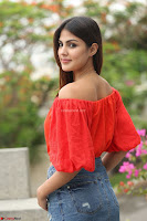 Rhea Chakraborty in Red Crop Top and Denim Shorts Spicy Pics ~  Exclusive 193.JPG