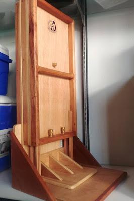 tallimetro movil tres cuerpos desarmado sin mochila plegado madera logo cenan