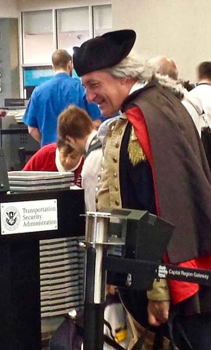 George Washington clears TSA while flying to seek help for our country. Founding Father and TSA and Other stories of Past Leaders Responding to Now. Marchmatron.com