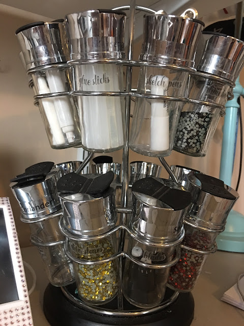 spice rack into desk organizer, how to store rhinestones, silhouette cameo, craft room organization