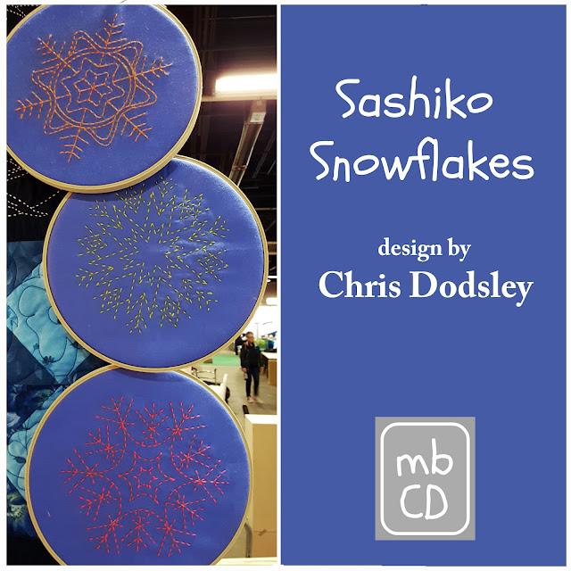 sashiko snowflakes