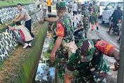 Cegah Virus Corona, Polsek Mandai Bersama Unsur TNI dan Pemerintah Kerja Bakti Bersih-bersih