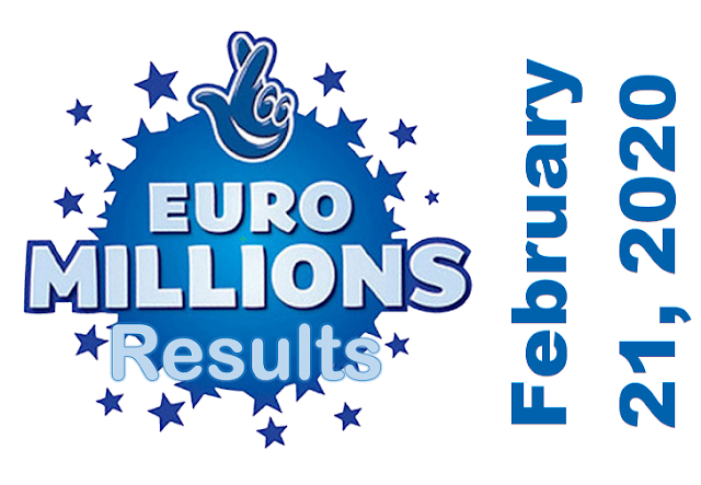 EuroMillions Results for Friday, February 21, 2020