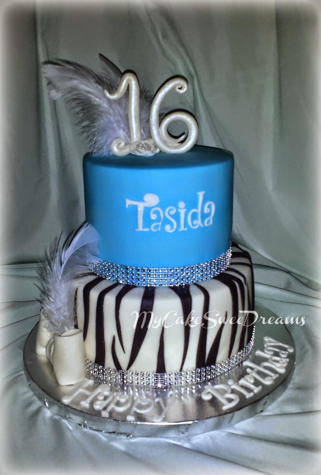 Mycakesweetdreams Sweet 16 Birthday Cake